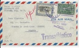 PANAMA - 1949 - ENVELOPPE AIRMAIL Pour TASSIN LA DEMI-LUNE - Panama