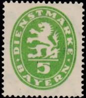 BAVARIA - Scott # O34 Coat Of Arms / Mint H Stamp - Bavaria