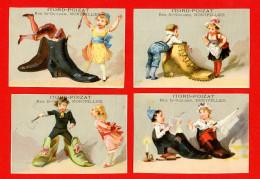 Montpellier, Fabrique De Chaussures Itord-Poizat, Lot De 4 Chromos, Enfants, Chaussures Géantes - Other