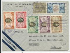 GUATEMALA - 1938 - ENVELOPPE AIRMAIL De La LEGATION De BELGIQUE Pour BOUILLON - Guatemala