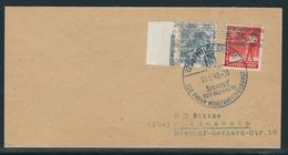 Brief Mit MiNr. 38 I K (kopfstehender Aufdruck) Und 40 II Plattendruck Randstück, Sonderstempel - Amerikaanse-en Britse Zone
