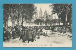 CPA 181 - Métier Maquignons Marché Aux Bestiaux La Place Du Paérc Jour De Foire CAEN 14 - Caen
