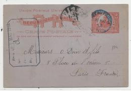HAÏTI - 1912 - CARTE ENTIER POSTAL De PORT AU PRINCE Pour PARIS - - Haiti
