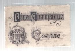 étiquette  - 1910/50* -fine Champagne COGNAC - étiquette Générique - Un Peu Sale - Etiquettes