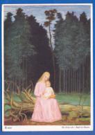 Malerei; Schiestl Matthaus; Rast Im Walde; 1937 - Künstlerkarten