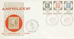 """Amphilex '67 Met Stempels """"Dag Van De Poststukken En Poststempelverzamelaars"""" - Blanco / Open Klep (13 Mei 1967) - Briefe U. Dokumente"""