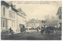 Cpa Objat - La Poste Et La Place De La Halle    ((S.1048)) - France