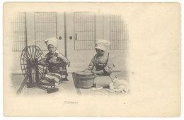 Cpa Asie - Fileuses     ((S.1049)) - Cartes Postales