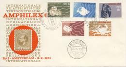 Amphilex '67 Met Zomerzegels (nr. 877 T/m 881) - Blanco / Open Klep (1967) - 1949-1980 (Juliana)