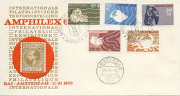 Amphilex '67 Met Zomerzegels (nr. 877 T/m 881) - Blanco / Open Klep (1967) - Covers & Documents