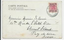 LIBAN - 1900 - CARTE De BEYROUTH BUREAU AUTRICHIEN Pour CLERMONT-FERRAND (FRANCE) - Liban