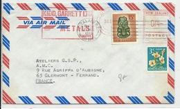 NEW ZEALAND - 1967 - ENVELOPPE Par AVION De AUCKLAND Avec COMPLEMENT EMA Pour La FRANCE - Nouvelle-Zélande