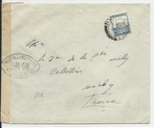 PALESTINE - 1939 - ENVELOPPE Avec CENSURE De HAIFA Pour VICHY (FRANCE) - Palestina