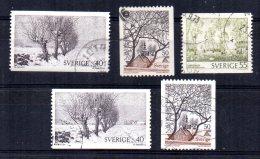 Sweden - 1973/77 - Landscapes - Used - Suède