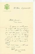 LETTERA AUTOGRAFA VESCOVO DI LUNI GIOVANNI COSTANTINI LA SPEZIA 1945 - Autografi