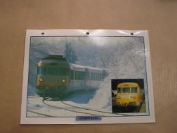 TURBOTRAIN Rames Turbine Gaz RTG SNCF Fiche Descriptive Ferroviaire Chemin De Fer Train Locomotive Rail - Picture Cards