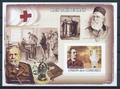 Comores Louis PASTEUR  Jean Henri DUNANT Red Cross Croix Rouge Souvenir Sheet Imperf MNH - Louis Pasteur