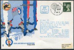 1974 GB RAF Display Woodford 'The Falcons' BFPS Clwyd Flight Cover - 1952-.... (Elizabeth II)
