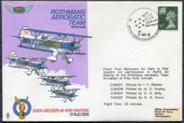 1974 GB RAF Display Gaydon 'Rothmans Aerobatic Team' BFPS Wycombe Flight Cover - 1952-.... (Elizabeth II)