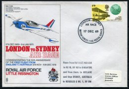 1969 GB RAF Museum Flight Cover. London - Sydney Australia Air Race Little Rissington, Hercules Via Singapore BFPS - 1952-.... (Elizabeth II)