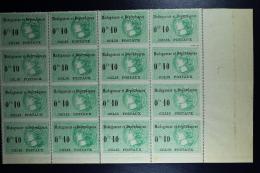 Madagascar: Colis Postaux Yv  5 Block De 16 MNH/**/postfrisch/neuf Sans Charniere 1919 - Madagascar (1889-1960)