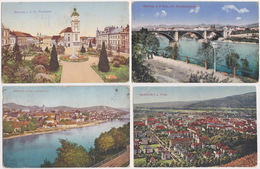 Slovenija, Slovenia - Maribor, Marburg An Der Drau (4 Postcards) - With Stamp 1914-1921 - Slovénie