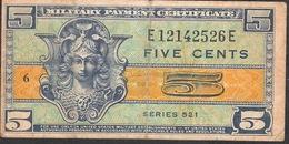 U.S.A.    PM29 5 CENTS 1954   VF  NO P.h. ! - Certificados De Pagos Militares (1946-1973)