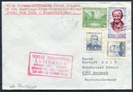 1966 Lufthansa First Flight Cover. Chile -  Frankfurt - Chile