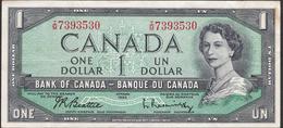 CANADA  P75  1  DOLLAR   1954   VF NO P.h. ! - Canada
