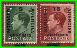 GRAN BRETAÑA  ( MOROCCO )  2 SELLO S AÑO 1936  AGENCIES - South West Africa (1923-1990)
