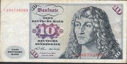 GERMANY  P31a  10  MARK   1970   AVF   NO P.h. - [ 7] 1949-… : FRG - Fed. Rep. Of Germany