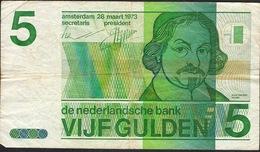 PAYS-BAS  P95  5  GULDEN   1973  VF NO P. H. ! - [2] 1815-… : Reino De Países Bajos