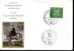 ALLEMAGNE  Lettre 1963  Oldenburg Poste Europa - Post