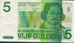 PAYS-BAS  P95  5  GULDEN   1973   AVF, Central P. H. ! - 5 Gulden