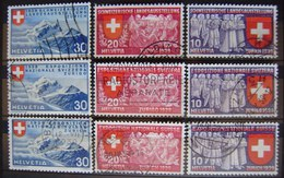 SUIZA - IVERT Nº 320/28- SERIE SELLOS USADOS - EXP. NACIONAL EN ZURICH - - ( M 039 ) - Switzerland
