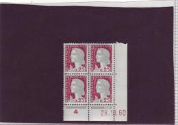 N° 1263 - 0,25F Marianne De DECARIS - I De I+J - 2° Tirage Du 25.10.60 Au 29.11.60 - 28.10.1960 - - 1960-1969