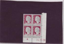 N° 1263 - 0,25F Marianne De DECARIS - J De I+J - 2° Tirage Du 25.10.60 Au 29.11.60 - 24.11.1960 - - 1960-1969