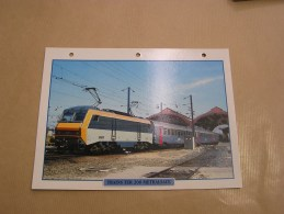 TER 200 METRALSACE Alsace SNCF Fiche Descriptive Ferroviaire Chemin De Fer Train Locomotive Rail - Fiches Illustrées