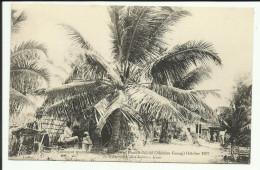Cpa SEYCHELLES, Cocoanut Trees Et Camp La Bark At Picault-Island 1907 - Seychellen