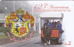 Isle Of Man, MAN 181, 125th. Anniversary Douglas Corporation Horse Trams, 2 Scans.