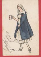 CPA: Guerre 1914-1918 - Infirmière Croix Rouge - Guerra 1914-18