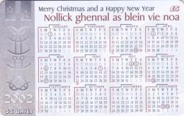 Isle Of Man, MAN 182, 2002 Calendar, Christmas, 2 Scans.