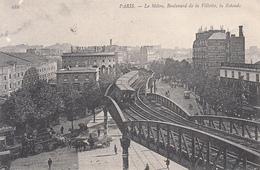 75 - Paris - Le Métro, Boulevard De La Vilette, La Rotonde (belle Animation, Attelages, 1907) - Métro Parisien, Gares