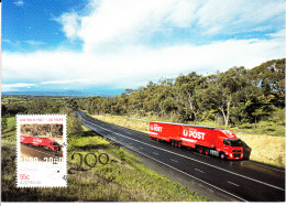 Australia 2009 Maxicard Scott #3049j 55c Part Of Every Day (truck) - Australia Post 200 Years - Cartoline Maximum