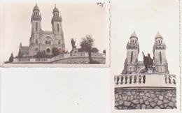 Photo        L37       Lot De 2 Photos ( 6,5X11 ) Statue Et église ) - Foto