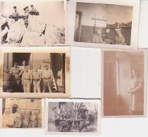 Photo        L39       Lot De 6 Photos Militaires Formats Différents - Personnes Anonymes