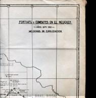 MAPAS FORTINES Y COMBATES EN EL NEUQUEN 1879-1900 MOJONES DE CIVILIZACION  ZTU. - Monde