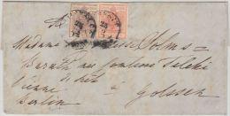 24205 MISKOLC (Hungary) Auf Brief Nach Golssek, Via Wien U. Berlin, PESTH 26/12 Transit, 6+3kr. - 1850-1918 Empire