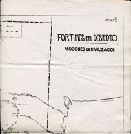MAPAS FORTINES DEL DESIERTO EXPEDICIONES AL LAGO NAHUEL HUAPI 1881  ZTU. - Monde