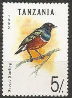 Tanzania - MNH - Family STARLINGS - Superb Starling ( Lamprotornis Superbus ) - Uccelli Canterini Ed Arboricoli